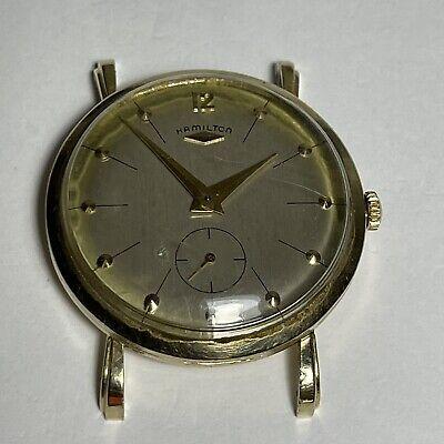 1950's  Solid 14k Gold Hamilton 770 Grade 22 Jewel Wrist Watch Apx. 32mm