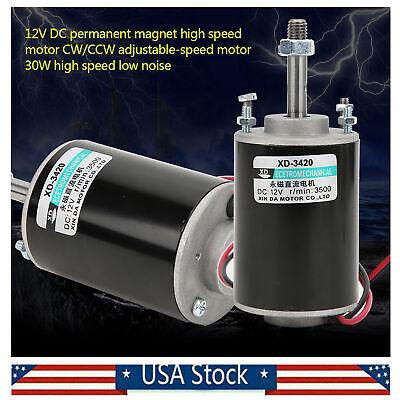 12v Electric Motor Highspeed 3500rpm Permanent Magnet Dc Motor For Diy Generator