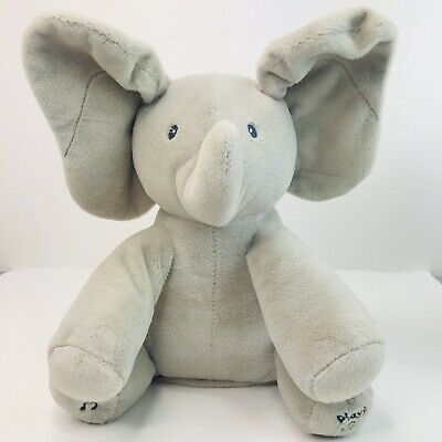"Baby Gund Flappy The Elephant Plush Lovey Sings ""Do Your Ears Hang Low"" BP2"