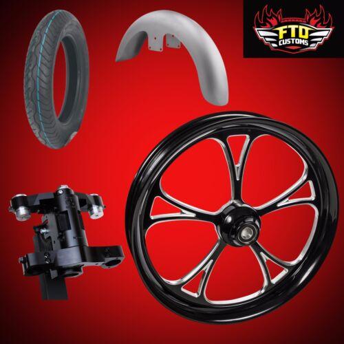 "Harley 26 Inch Front End Big Wheel Kit W/wheel, Tire, Neck, Fender, ""cyclone"""