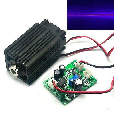 Focusable 405nm 100mw Violetblue Line 12v Laser Diode Module W Driver Ttl