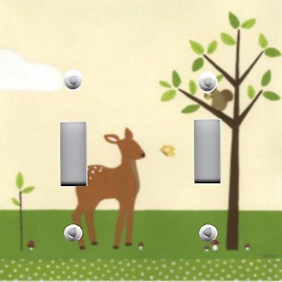 Light Switch Plate Switchplate Cover DEER WILDLIFE FRIENDS CUTE - KID'S - Friends Switchplate