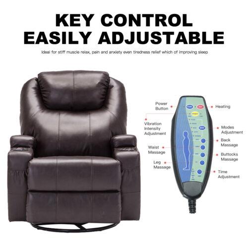 Mecor Massage Recliner Sofa Lounge Chair Ergonomic Swivel He