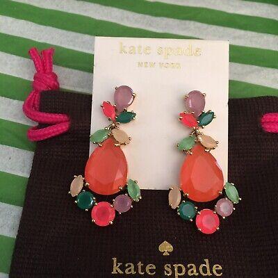 STUNNING KATE SPADE NY PRINCESS PALACE GEMS DROP BRIDAL EARRINGS HUGE MULTI