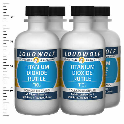 Titanium Dioxide Rutile 12 Oz Total 4 Bottles Reagent Grade 44 Micron Powder