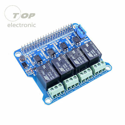 4 Channel Rpi Relay Module Expansion Board For Raspberry Pi 3 2 A B 2b 3b