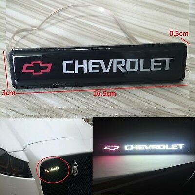(Chevrolet Logo LED Light Car Front Grille Badge Illuminated Decal Sticker )