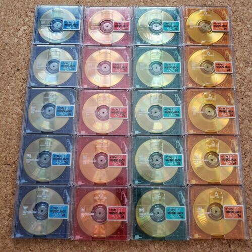 TDK MD 74 Minidisc 20 blank discs Recordable with case USED