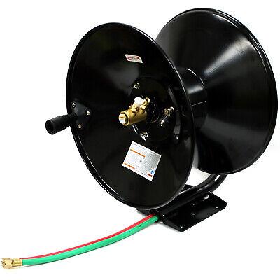 Manual Retractable Twin Hose Reel For 100ft 30m Oxygen Acetylene Welding Hoses