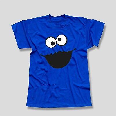 T-Shirt Krümelmonster ohne Kekse Karneval Fasching Sesamstraße Kids Men (Kids Monster Kostüme)