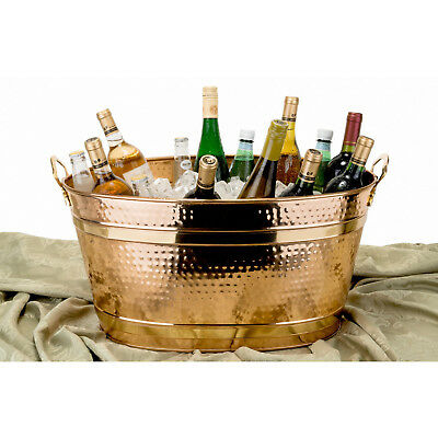 Copper Party Beverage Tub 11-Gallon Oval Bucket Cool Drinks