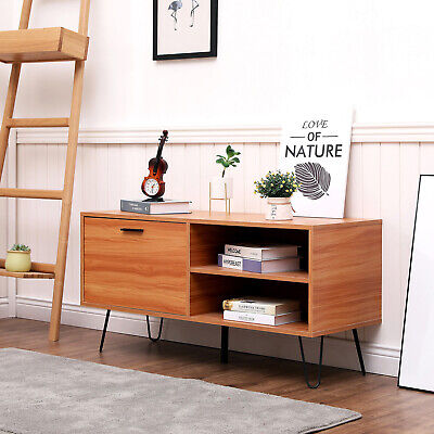Modern TV Stand Unit Cabinet Coffee Table w/Pull Down Door Living Room Furniture