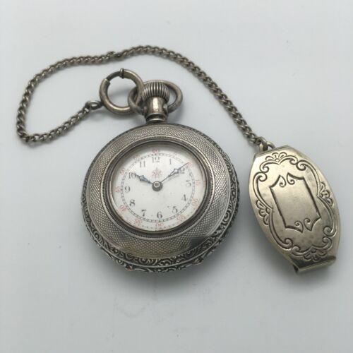 RARE 1902 Waltham 16J Grade 68 Pendant Pocket Watch 0s - OF Coin Silver Case