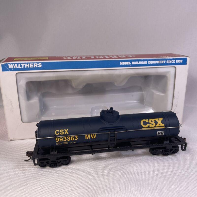 Walthers Trainline HO CSX Tanker Tank Car Train 993363 MW