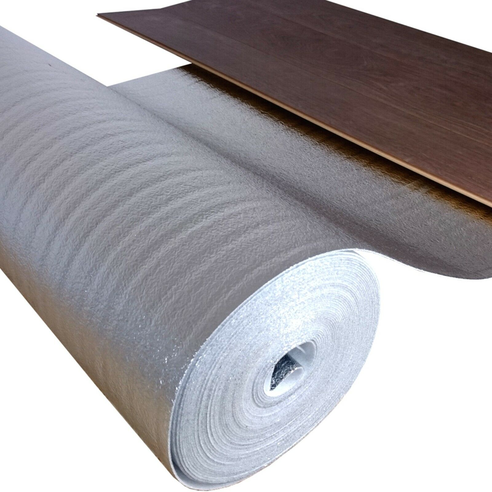 ALU-PE Schaum Trittschalldämmung 2 mm stark - Laminatböden mit Fußbodenheizung