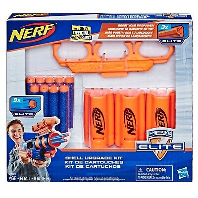 Nerf Shell Elite Upgrade Kit 3 Shells 9 Nerf Darts And Shell Holder