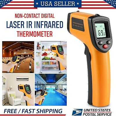 New Temperature Gun Non-contact Digital Laser Infrared Ir Thermometer Temp Meter