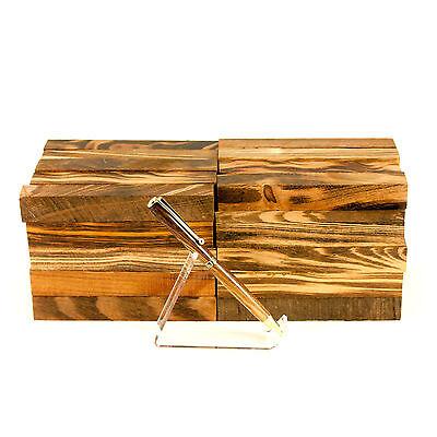 "Tigerwood Ebony (Jobillo) tropical pen blank turning square, 3/4"" x 3/4"" x 5"""