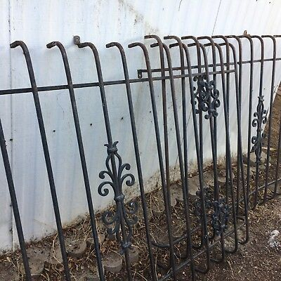 3 Vintage Decorative Wrought Iron Window Guards - 4x6.5 ft  PALM SPRINGS PICK UP ()