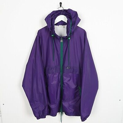 Vintage K-WAY Small Logo Lightweight Coat Jacket Purple | Large L