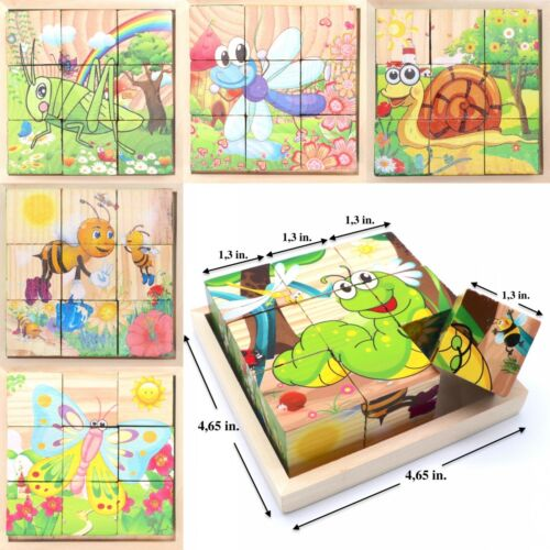 Toddler Toy Cube Blocks For Kids Educational Play Toy Puzzle . Insects