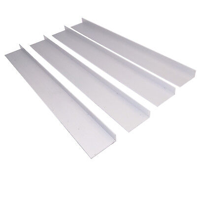 Us Stock 4pcs 10mm X 30mm X 250mm9.84 Long 1mm Thick 6063 T5 Aluminum Angle