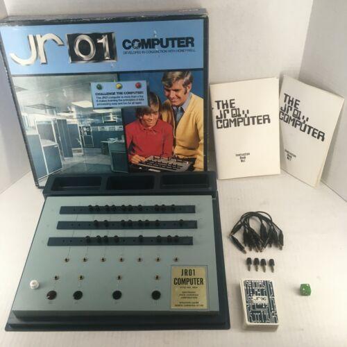 Vintage 1970 RARE ORIGINAL Honeywell JR 01 JR01 Computer Learning Game Free Ship