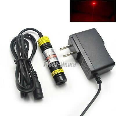 650nm 250mw Red Focusable Dot Mitsubishi Diode Laser Module 5v Adapter Power