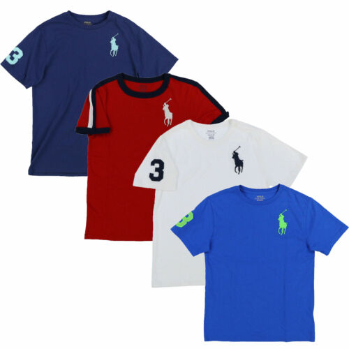 Polo Ralph Lauren Boys T-Shirt Big Pony Crew Neck Tee Casual Kids Prl New M L Xl