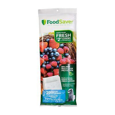 FoodSaver 1-Gallon Multilayer Construction Vacuum Zipper Bags, 20 (Foodsaver 1 Gallon)
