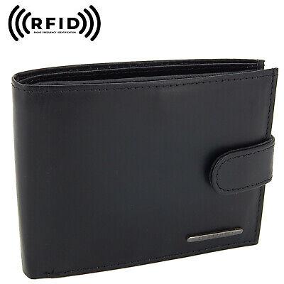 Schwarz Brieftasche Tasche (Schwarze Geldbörse Echtleder Brieftasche Geldbeutel Portemonnaie mit RFID Schutz)