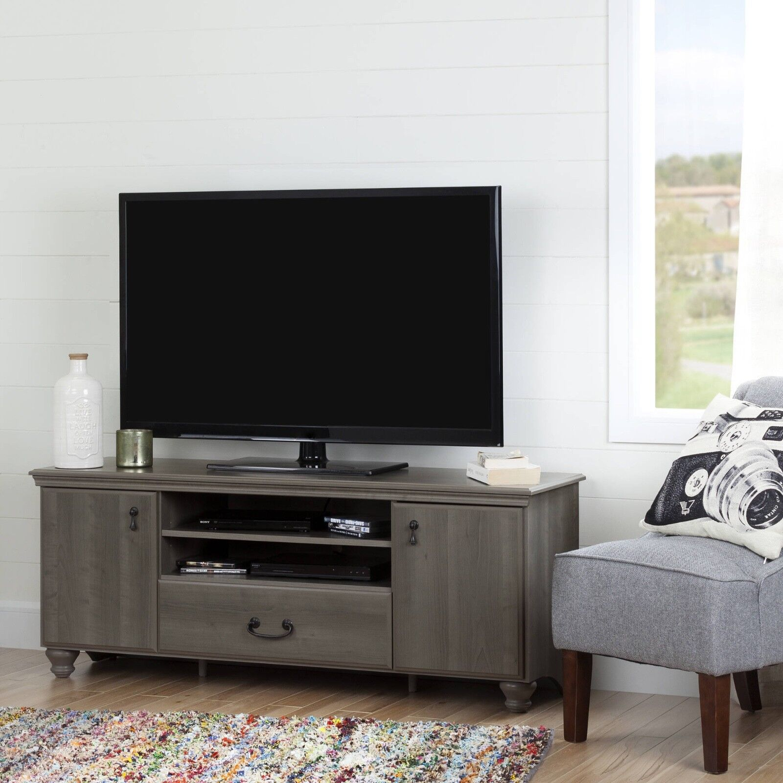 """South Shore Noble TV Stand for TVs up to 65"""", Multiple Finis"""
