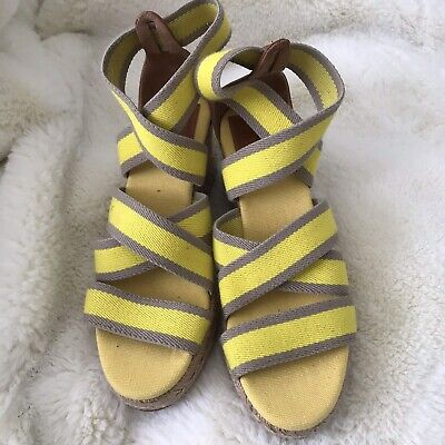 Tory Burch Summer Espadrilles Wedge Sandals 7 Slip On