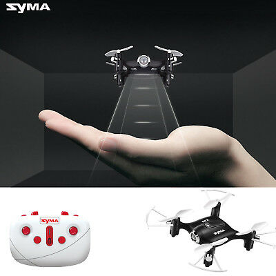 Syma X20 Pocket Drone 2.4G 4CH RC Quadcopter Headless Mode Altitude Hold Black
