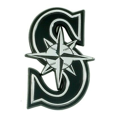 Fanmats  MLB Seattle Mariners Chrome 3D Emblem-Car Truck RV 2-4 Day Delivery 2 Seattle Mariners Car