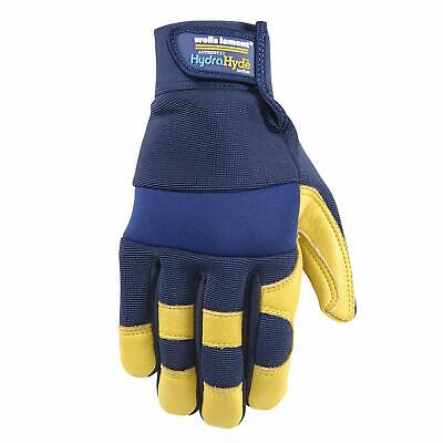 Wells Lamont Hydrahyde Mens Cowhide Leather Water Resistant Work Gloves Large