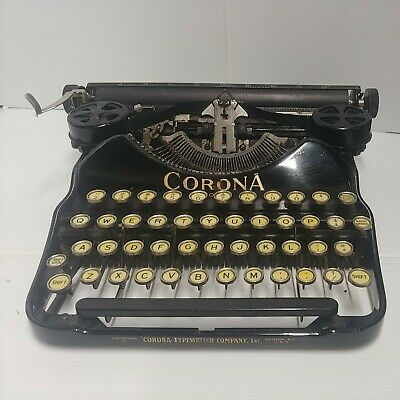 VERY EARLY CORONA FOUR TYPEWRITER WORKS EXCELLENT CONDITION E 201733