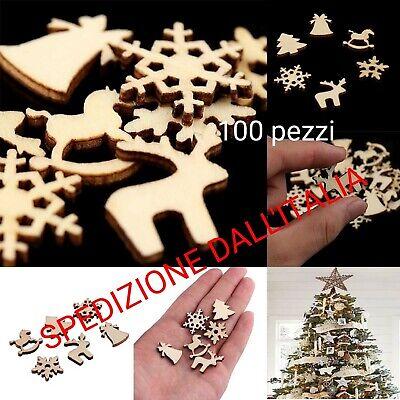 Decorazione di Natale Ornamenti in legno per albero di Natale lotto 100pz