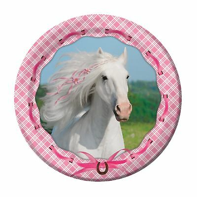 Heart my Horse Party Supplies Girls Birthday Lunch Plates-8ct.