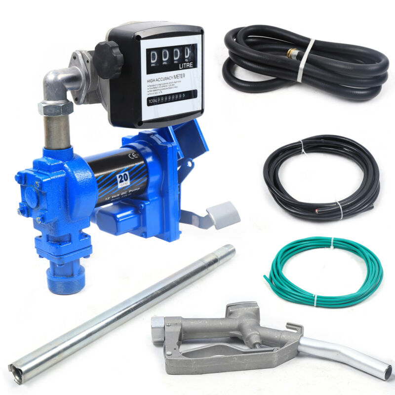 New 12V 20 GPM Diesel Gasoline Anti-Explosive Fuel Transfer Pump with Oil Meter