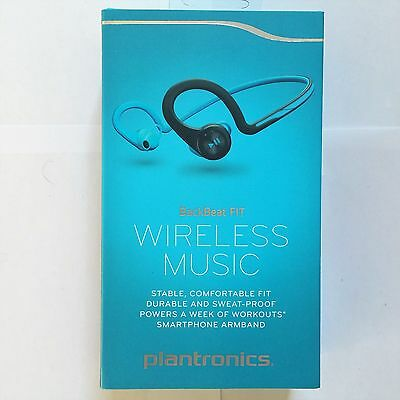 BRAND New Plantronics BackBeat Fit Bluetooth Wireless Headphone Sweatproof Blue