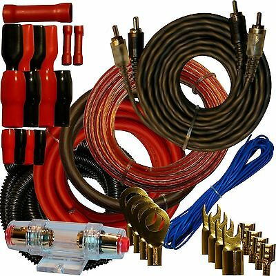 4 Gauge Amplfier Power Kit for Amp Install Wiring Complete RCA Cable RED (4 Gauge Install Kit)