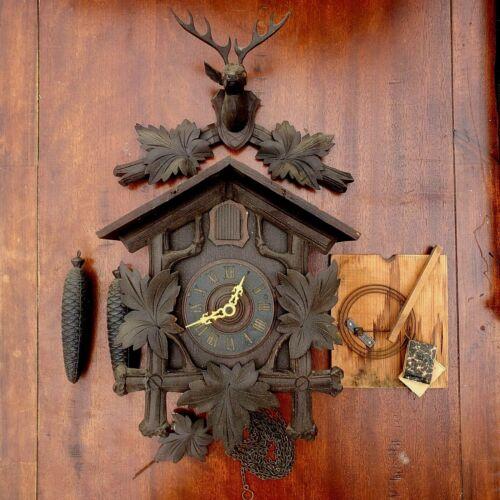 Cuckoo Clock For Restoration Wall Mount German Vintage/Antique Almost Complete.