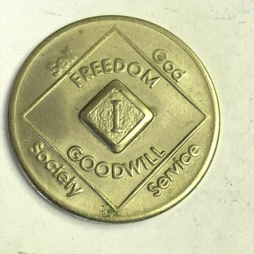 Narcotics Anonymous NA 1 Year Recovery Program Token - Freedom Goodwill