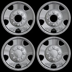 2005-07-Ford-F250-F350-4x4-17-Chrome-Wheel-Skins-8-Lug-Full-Rim-Covers-Hub-Caps