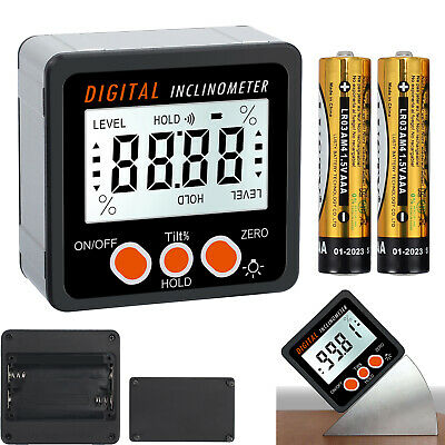 490 Level Box Gauge Lcd Digital Protractor Magnetic Inclinometer Angle Finder
