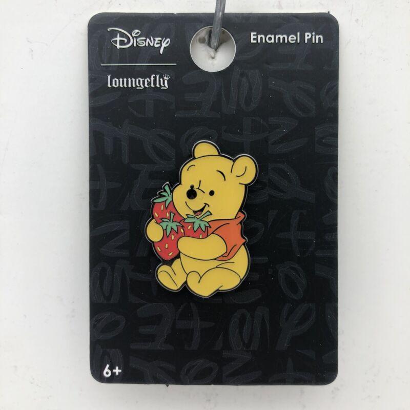 Loungefly Disney Pin Winnie the Pooh & Strawberries Enamel Trading Pin