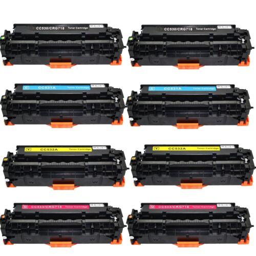 8pk Cc530a-cc533a 304a Toner Set For Hp Laserjet Cp2025 C...