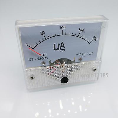 Us Stock Dc 0200ua Class 2.5 Accuracy Analog Amperemeter Panel Meter Gauge 85c1