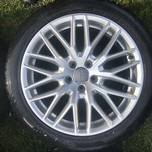 Mags Audi Neufs + Pneus Hiver Neufs 235-45-18 5x112
